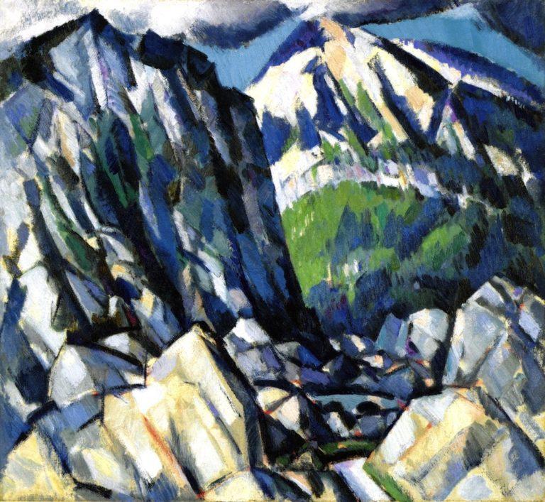 The Rocky Glen | John Duncan Fergusson | oil painting