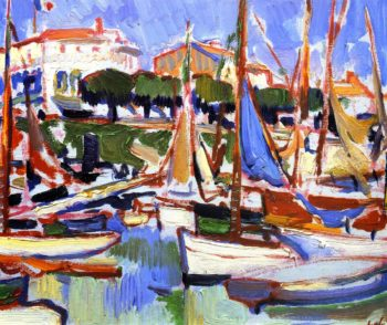 Boats at Royan | Samuel John Peploe | oil painting