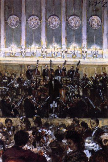 Bilse Concert | Adolph von Menzel | oil painting