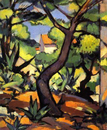 Landscape at Cassis   Samuel John Peploe   oil painting