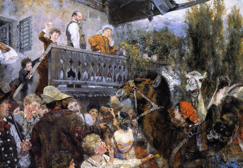 Camel Driver at Partenkirchen | Adolph von Menzel | oil painting