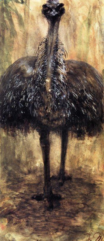 Cassowary | Adolph von Menzel | oil painting