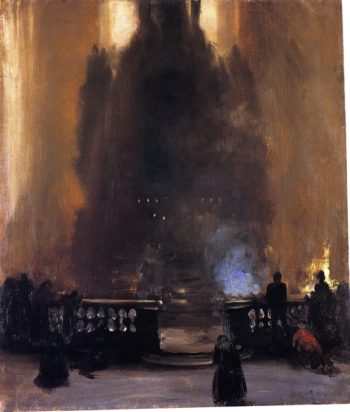 Church Interior | Adolph von Menzel | oil painting