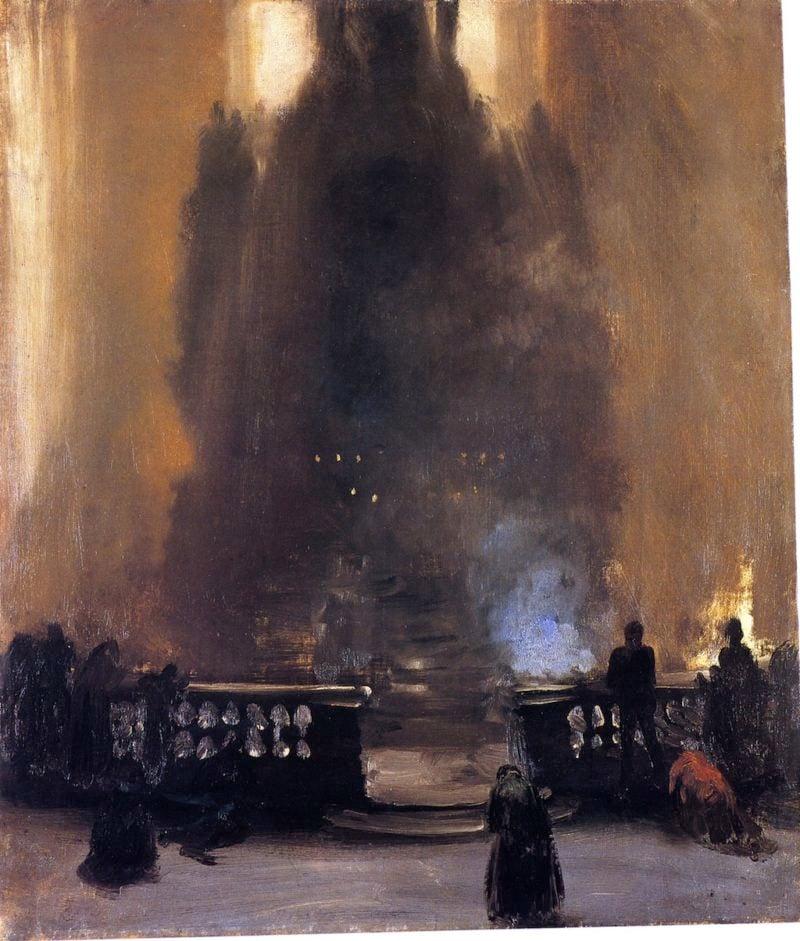 Church Interior | Adolph von Menzel | oil painting