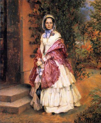 Clara Ilger later Frau Schmidt von Knobelsdorf | Adolph von Menzel | oil painting