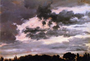 Cloud Study | Adolph von Menzel | oil painting