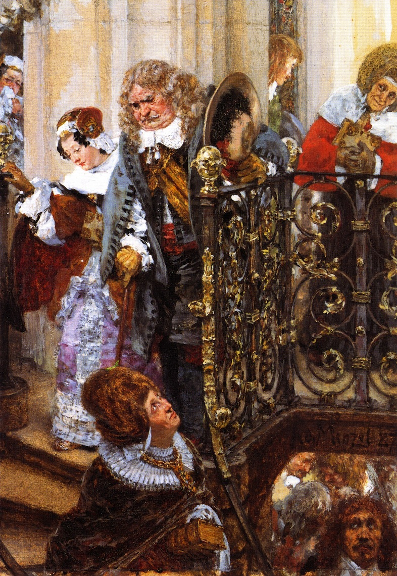 Coming out of Church   Adolph von Menzel   oil painting