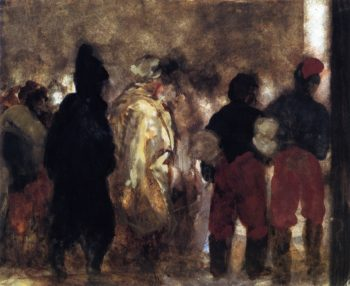French Prisoners of War on the March | Adolph von Menzel | oil painting