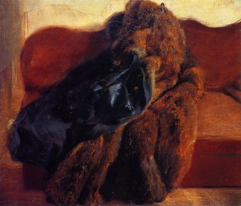 Fur Coat on a Sofa | Adolph von Menzel | oil painting