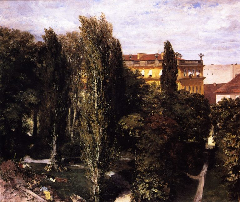 Garden of Prince Albert's Palace | Adolph von Menzel | oil painting