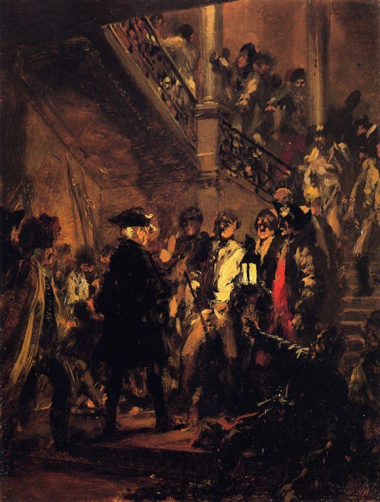 Good Evening Gentlemen | Adolph von Menzel | oil painting