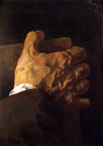 Hand Holding a Book | Adolph von Menzel | oil painting