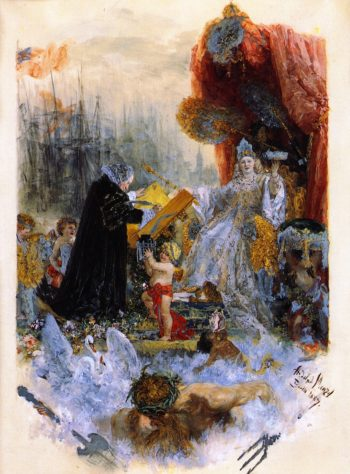 Honorary Citizen's Diploma from Hamburg City Council to G C Schwabe | Adolph von Menzel | oil painting