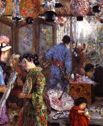Japanese Painter | Adolph von Menzel | oil painting