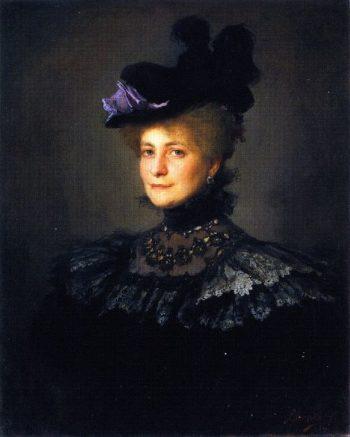 A Lady in Black | Philip Alexius de Laszlo | oil painting