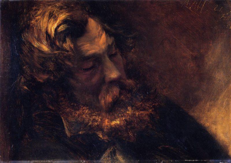 Man Asleep | Adolph von Menzel | oil painting