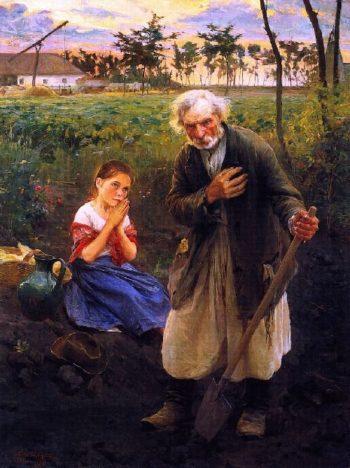 At Vesper Bell | Philip Alexius de Laszlo | oil painting