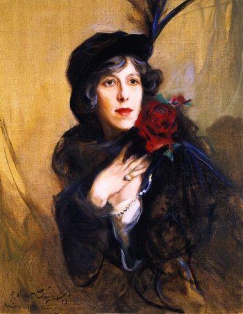 Baroness Conrad de Meyendorff nee Nadine Vladimirnova Louguinine | Philip Alexius de Laszlo | oil painting