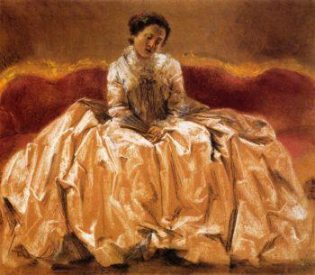 Model Study for Wilhelmine von Bayreuth | Adolph von Menzel | oil painting