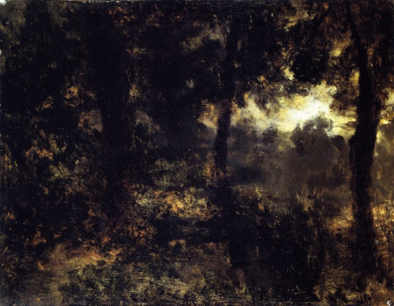 Night in the Forest | Adolph von Menzel | oil painting