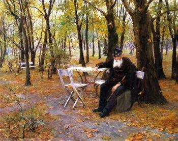 Falling Leaves | Philip Alexius de Laszlo | oil painting