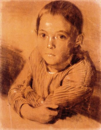 Portrait of a Young Girl | Adolph von Menzel | oil painting