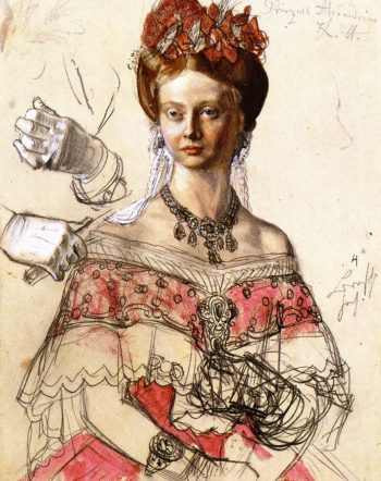 Princess Alexandrine of Prussia | Adolph von Menzel | oil painting