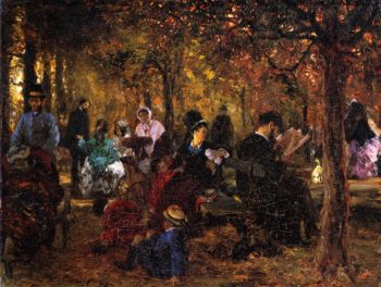 Recollection of the Luxembourg Gardens | Adolph von Menzel | oil painting