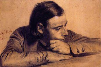 Richard Menzel the Artist's Brother | Adolph von Menzel | oil painting