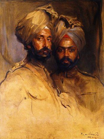 Lt Col Risaldar Jagat Singh and Risaidar Man Singh | Philip Alexius de Laszlo | oil painting