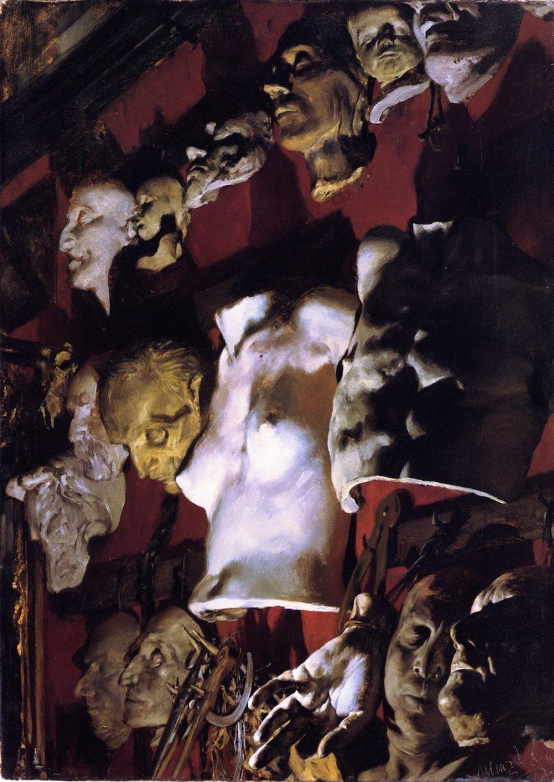 Studio Wall | Adolph von Menzel | oil painting