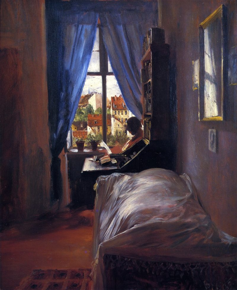The Artist's Bedroom in Ritterstrasse | Adolph von Menzel | oil painting