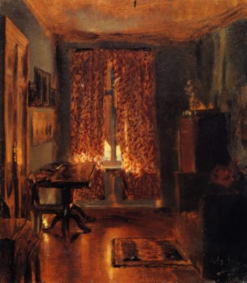 The Artist's Room in Ritterstrasse | Adolph von Menzel | oil painting