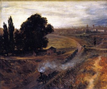 The Berlin Potsdam Railway | Adolph von Menzel | oil painting
