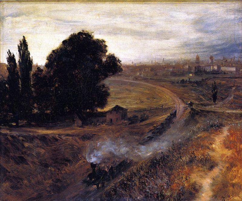 The Berlin Potsdam Railway | Adolph von Menzel | oil painting