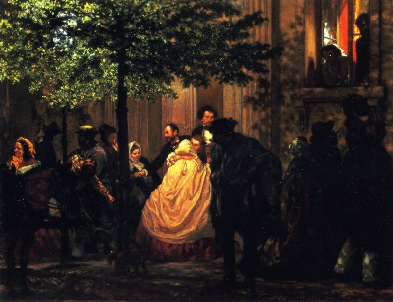 The End of the Evening | Adolph von Menzel | oil painting