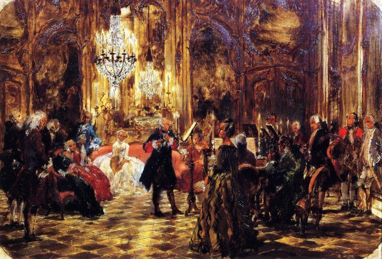 The Flute Concert at Sanssouci | Adolph von Menzel | oil painting