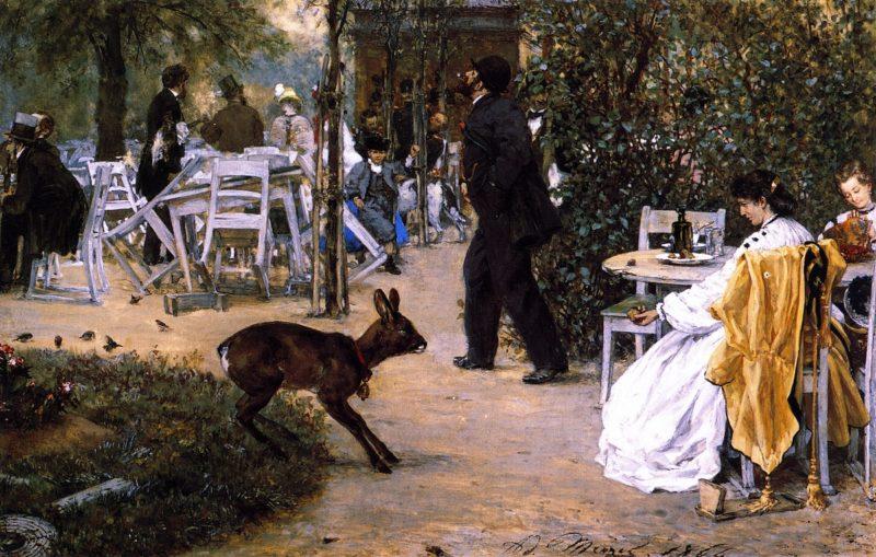 The Moritzhof Inn | Adolph von Menzel | oil painting