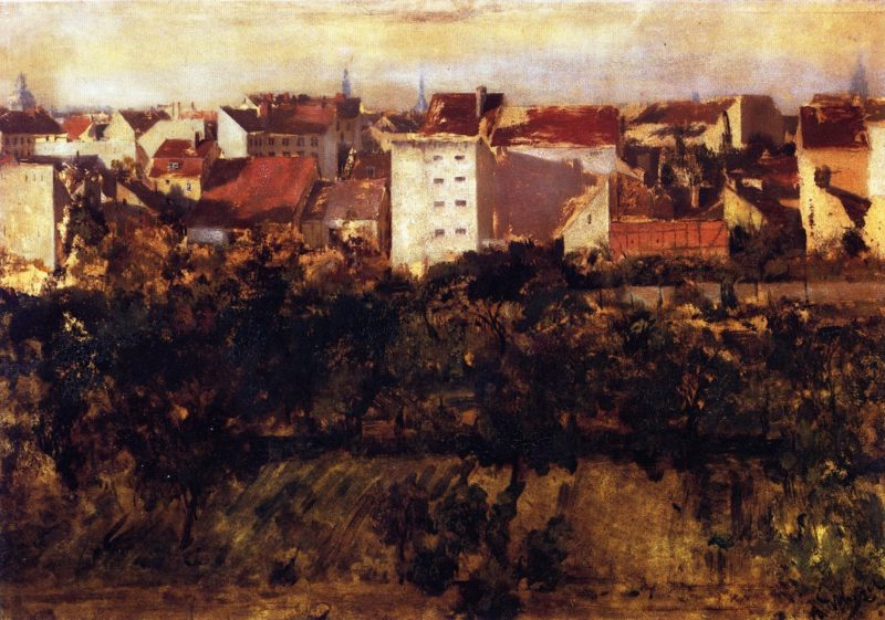 TView of Back Yards | Adolph von Menzel | oil painting