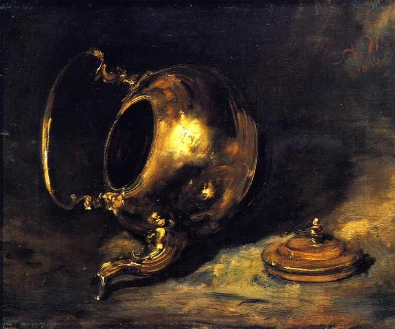 Upturned Kettle | Adolph von Menzel | oil painting