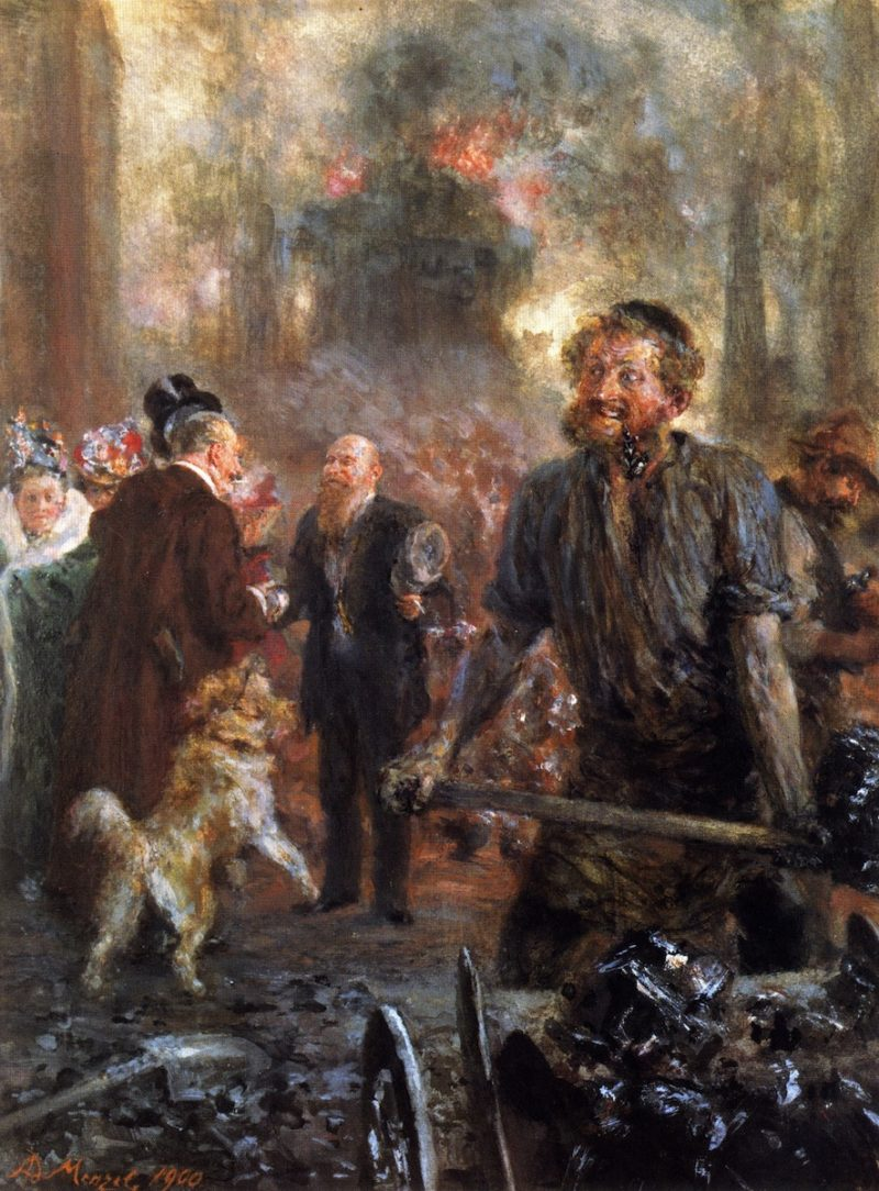 Visit to the Forge | Adolph von Menzel | oil painting