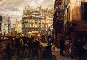 Weekday in Paris | Adolph von Menzel | oil painting