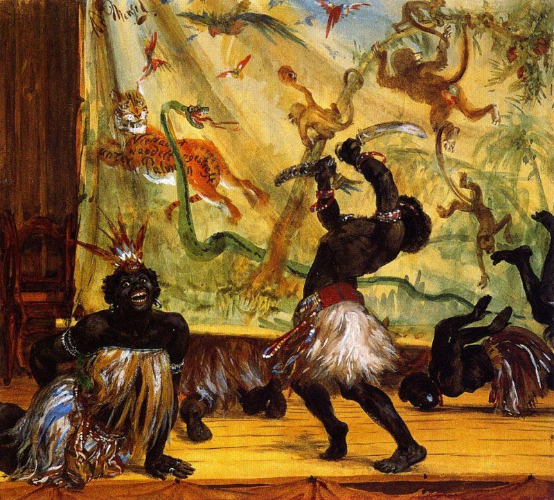 Zulus | Adolph von Menzel | oil painting