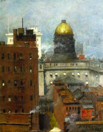 Downtown Kansas City in 1908 | George Van Millett | oil painting
