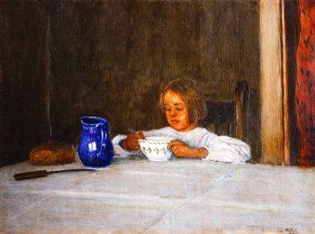 Elizabeth at the Table | George Van Millett | oil painting