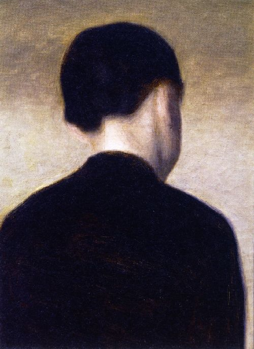 Back View of a Young Girl | Vilhelm Hammershoi | oil painting