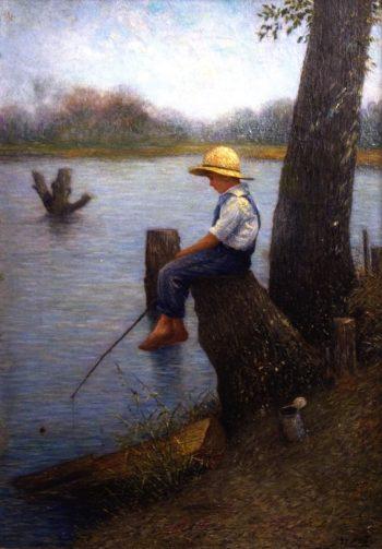Just Fishn | George Van Millett | oil painting