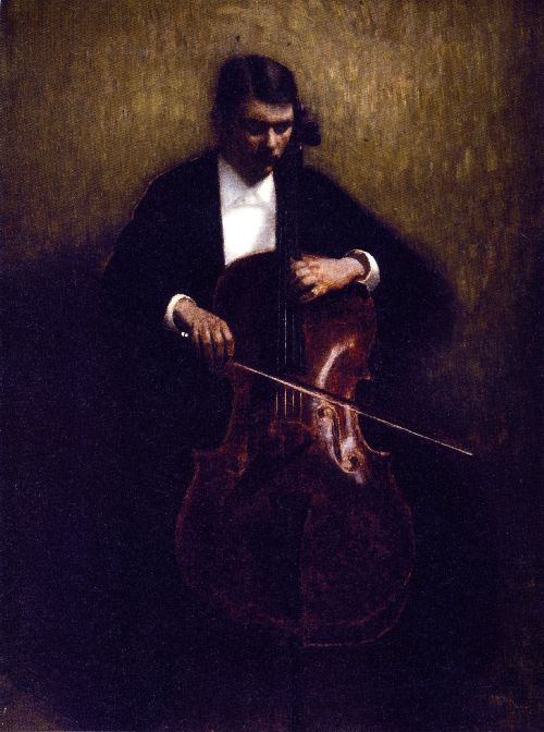 Cello Player | Vilhelm Hammershoi | oil painting