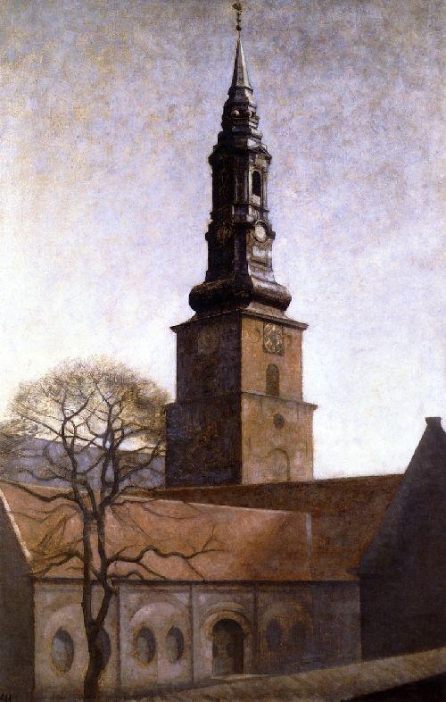 Church of St Peter | Vilhelm Hammershoi | oil painting