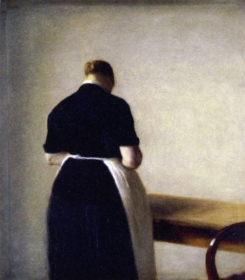 Figure of a Woman | Vilhelm Hammershoi | oil painting